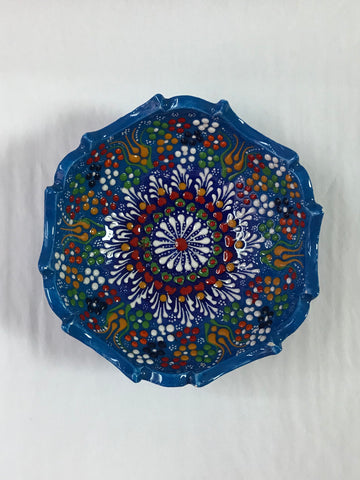 Turkish Pottery Novelty Edge Bowl