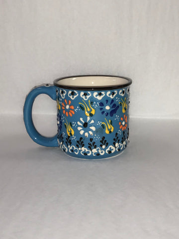 Turkish Pottery Barrel Mug