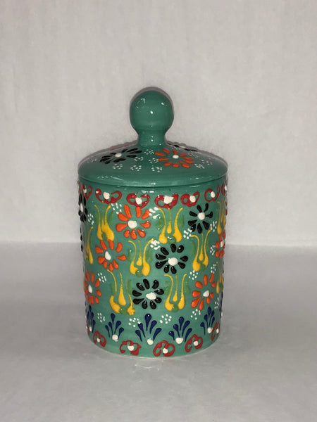 Turkish Pottery Small Canister