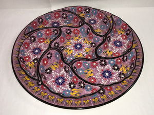 Turkish Pottery Eight-Piece Floral Appetizer Set