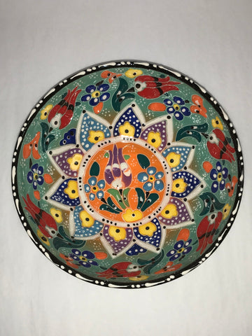 Turkish Pottery Bowl Medium