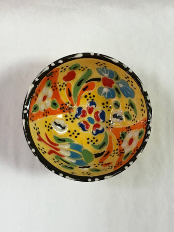 Turkish Pottery Floral Pattern Bowl Small
