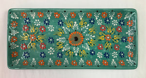 "Turkish Pottery Tray 11"" x 5"""