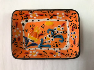 "Turkish Pottery Tray 4"" x 3"""