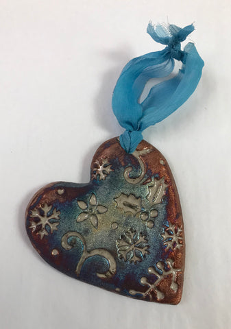 Crackle Heart Ornament