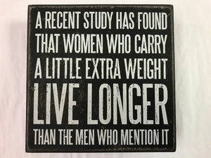 Women Carry Weight Wall Sign