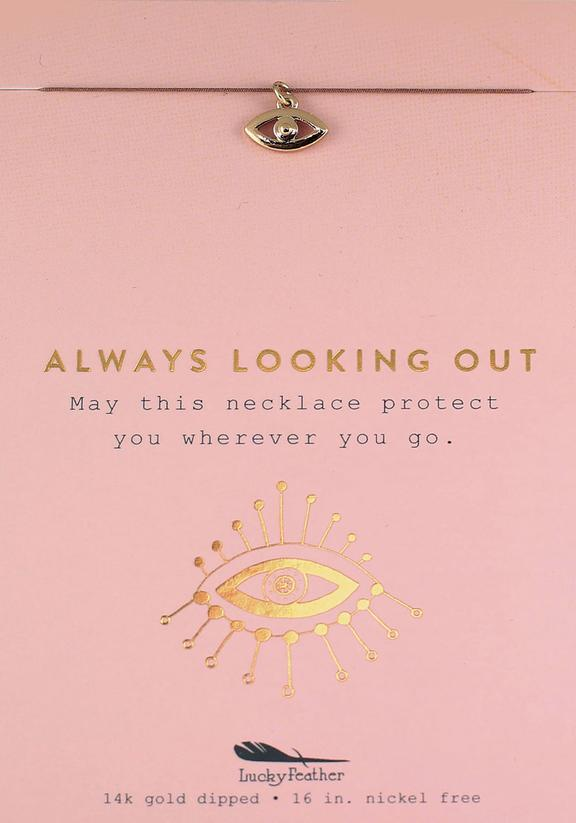 Always Looking Out - Gold Evil Eye Necklace