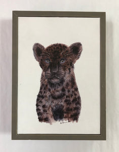 Baby Black Panther Mini Canvas
