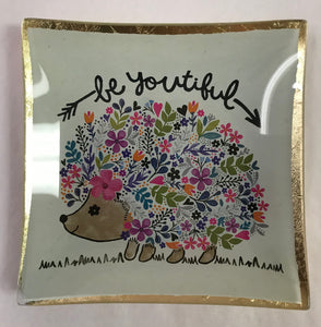 BeYOUtiful Hedgehog Trinket Dish