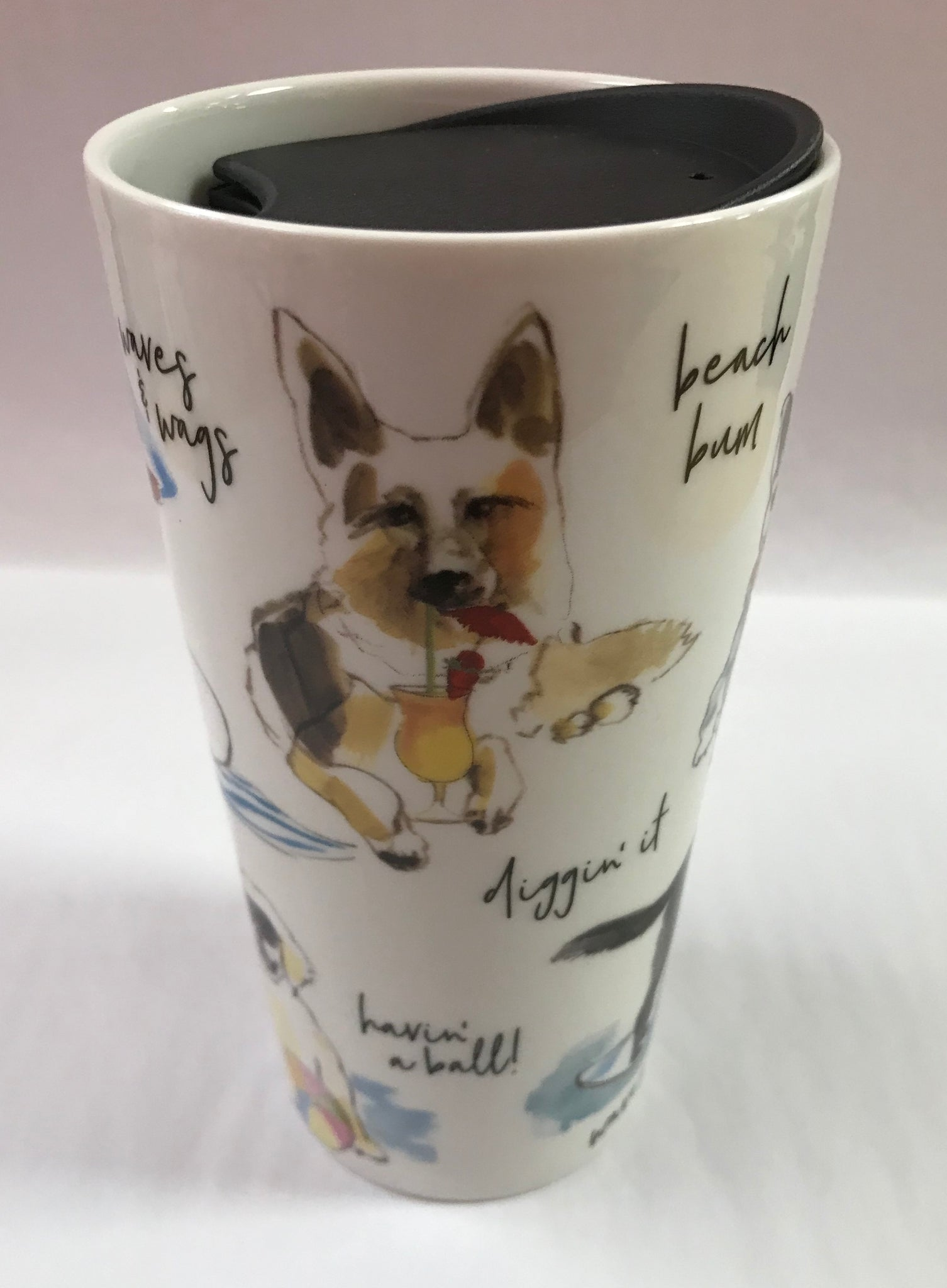 Beach Face Dog Travel Mug