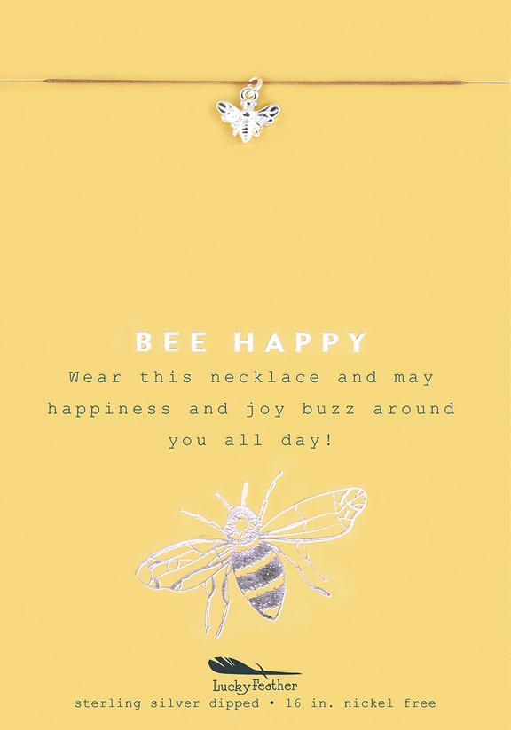 Bee Happy - Silver Bee Necklace