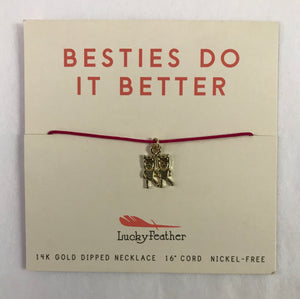 Besties Do It Better Cord Necklace