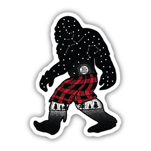 Bigfoot in Shorts Sticker