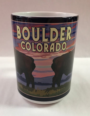 Bison Sunset Boulder Mug