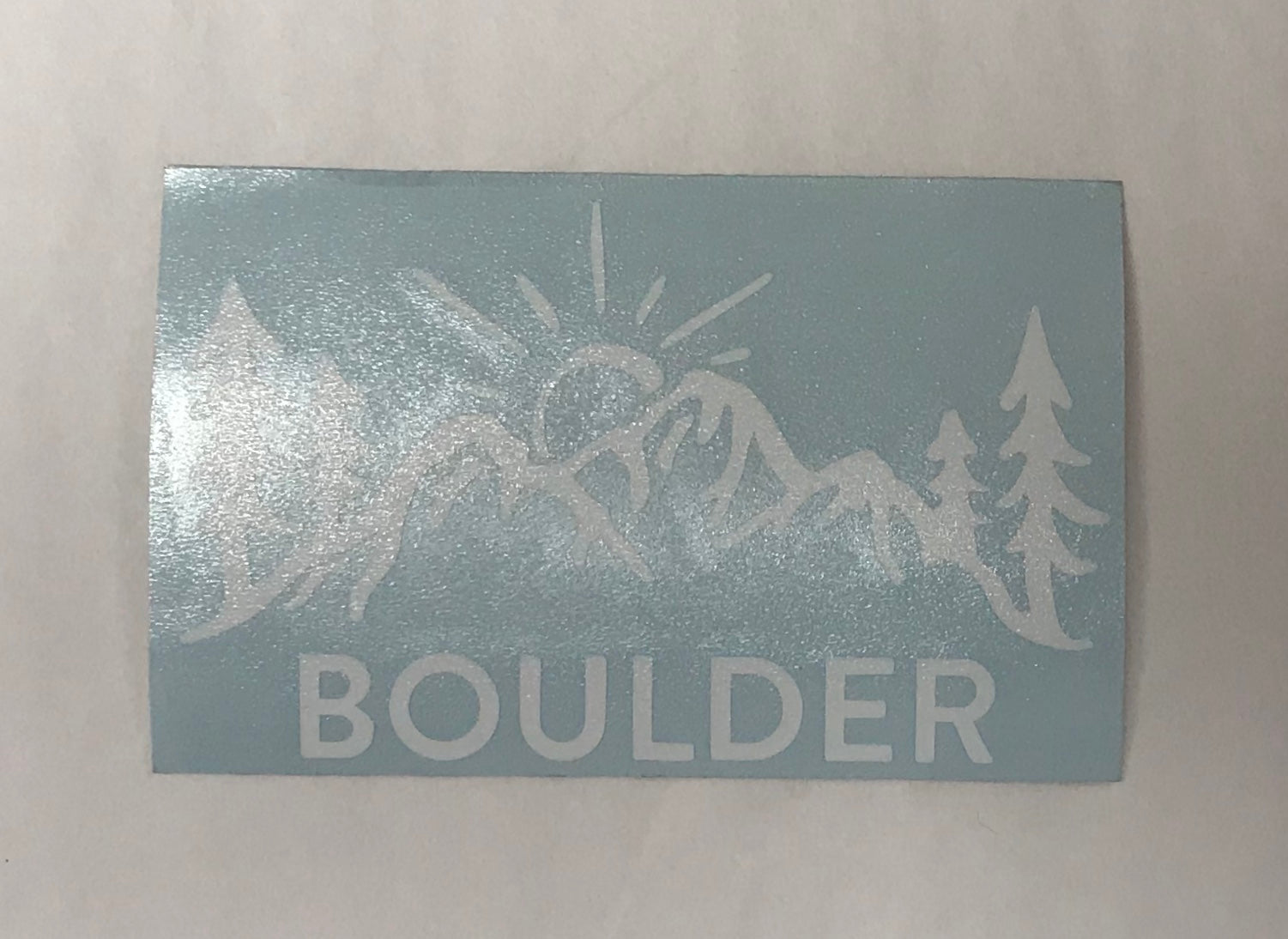 Boulder Square Sticker
