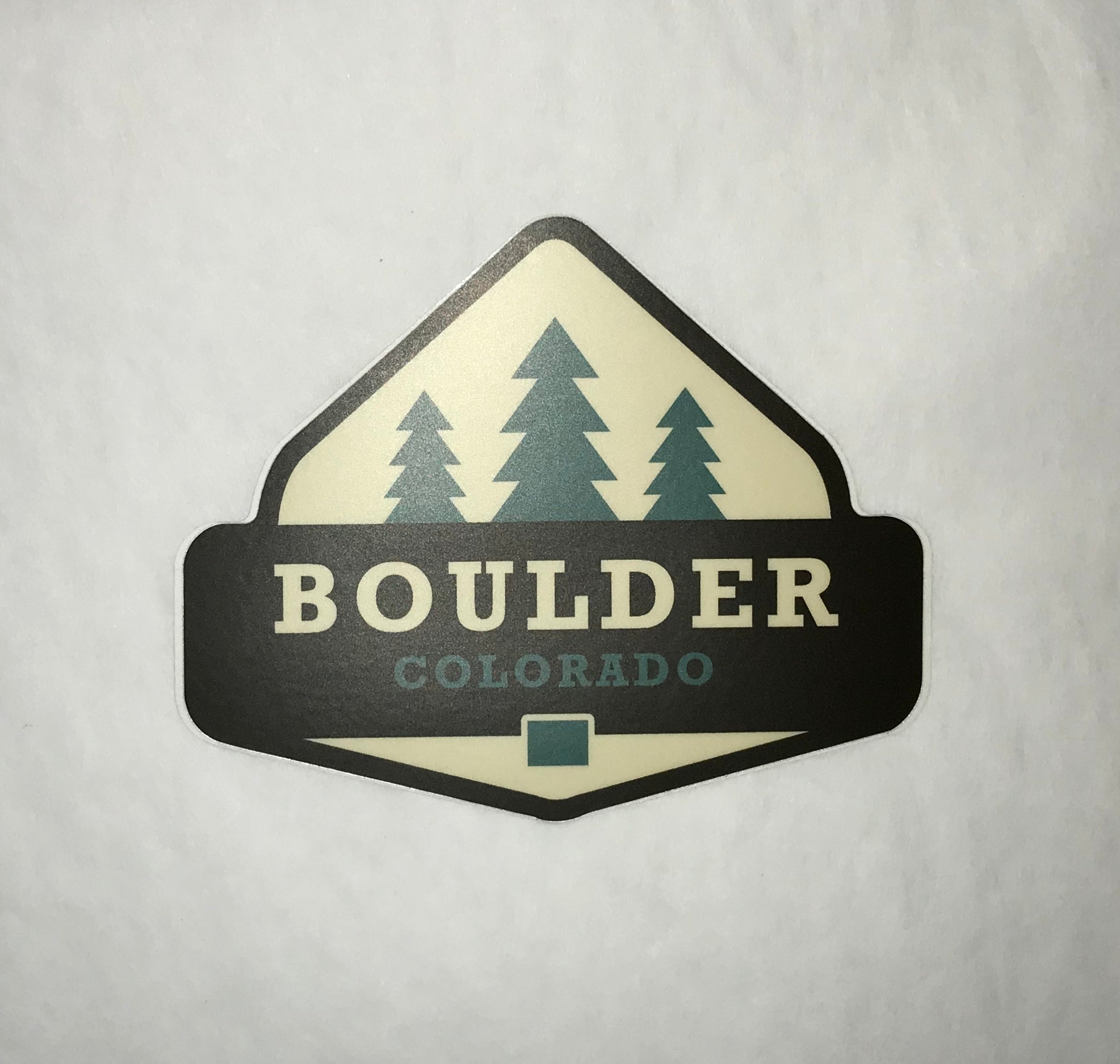 Boulder Trees Sticker
