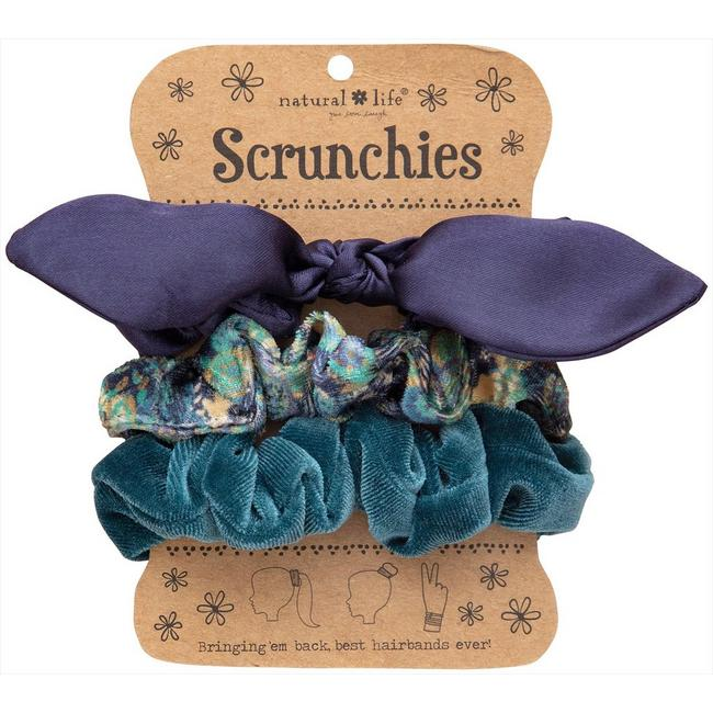 Blue & Green Scrunchie Set