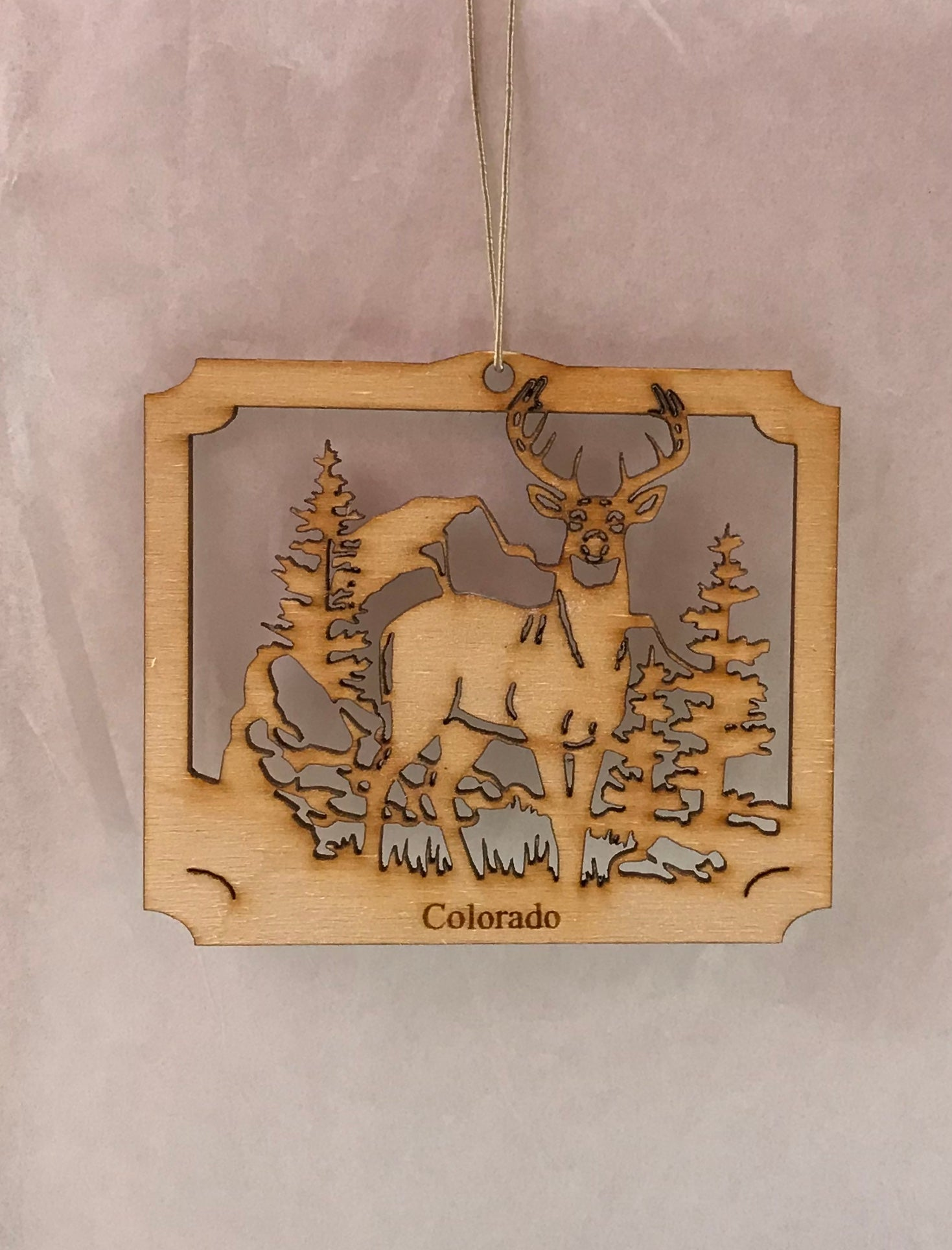 Buck Standing Wood Ornament