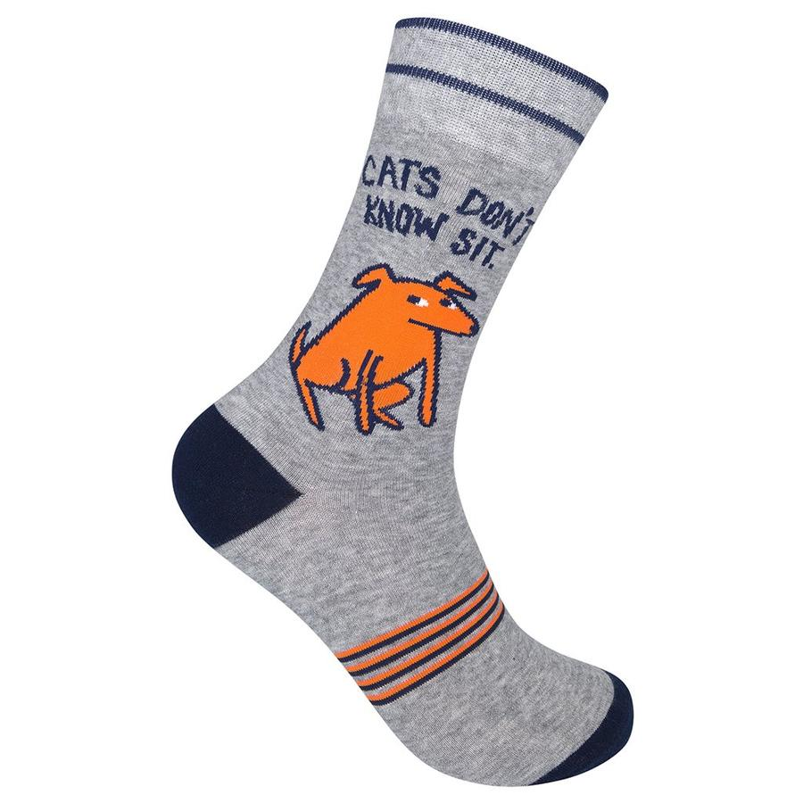 """Cats Don't Know Sit"" Socks"