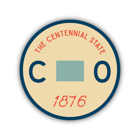 CO Centennial State Sticker