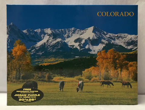 Colorado Mountains & Horses Puzzle