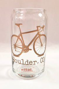 Assorted Colors Boulder Bike Beer Can Glass