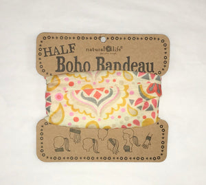 Cream with Pink & Yellow Shapes Half Bandeau