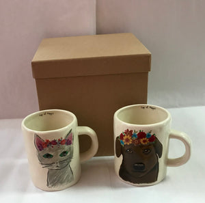 Cat & Dog Mug Gift Box