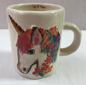 Embossed Unicorn Mug