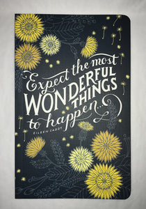 Expect Most Wonderful Things Journal