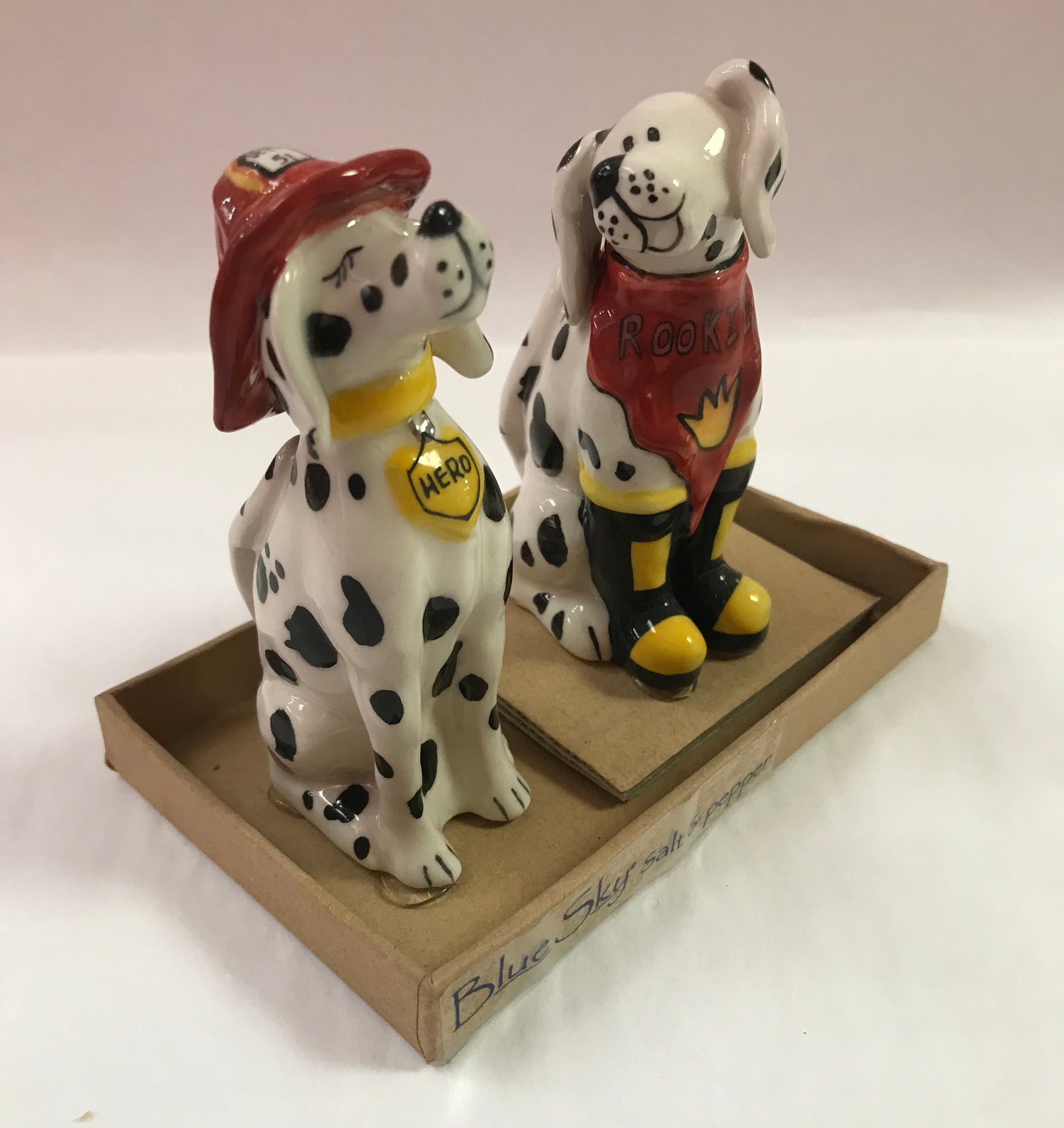 Firemen Dogs Salt & Pepper Shakers