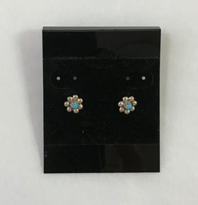 Flower with Turquoise Studs