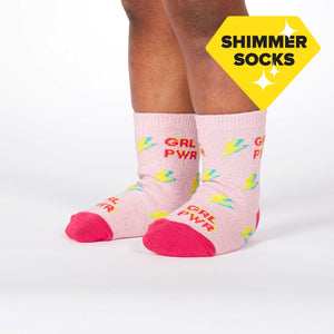 Girl Power Toddler Socks