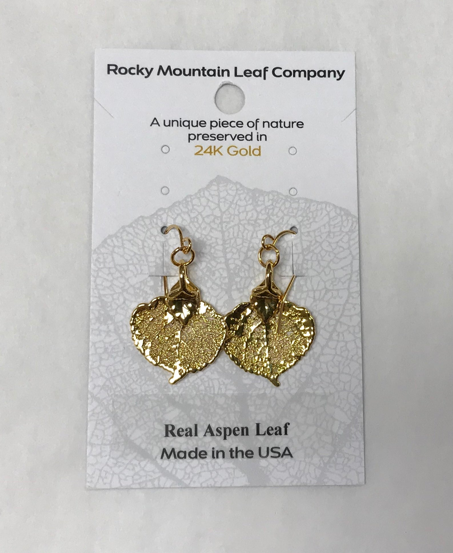 Gold Aspen Leaf Earrings