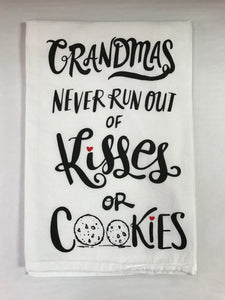 Grandmas Kisses Or Cookies Kitchen Towel