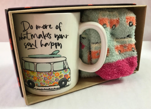 Makes Your Soul Happy Sock & Mug Set