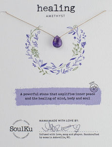 "Amethyst ""Healing"" Necklace"