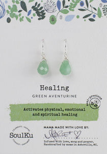 "Green Aventurine ""Healing"" Earrings"