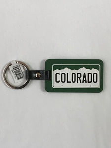 CO License Plate Woodlike Key Chain
