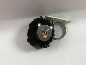 Black Bear Pom Pom Key Chain