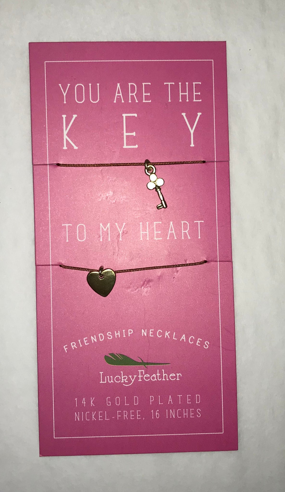 Key To My Heart Friendship Necklaces