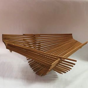 Large Tea-stain Chopstick Art Folding Basket