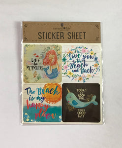 Let's Be Mermaids Sticker Set