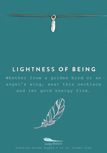 Lightness of Being - Silver Feather Necklace