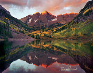 Maroon Bells at Sunrise Metal Print