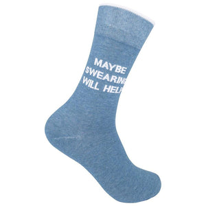 """Maybe Swearing Will Help"" Socks"