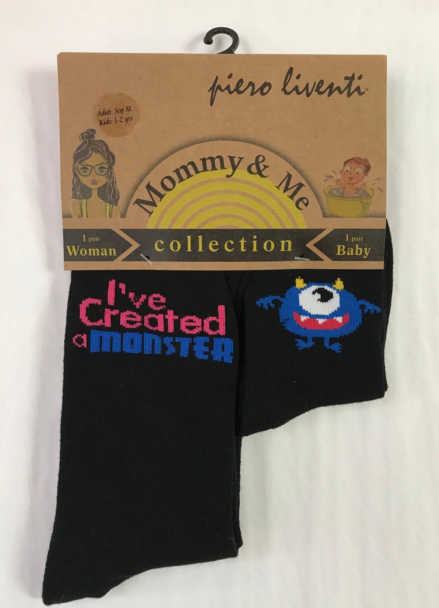"Mom & Me ""I've Created a Monster"" Sock Set"