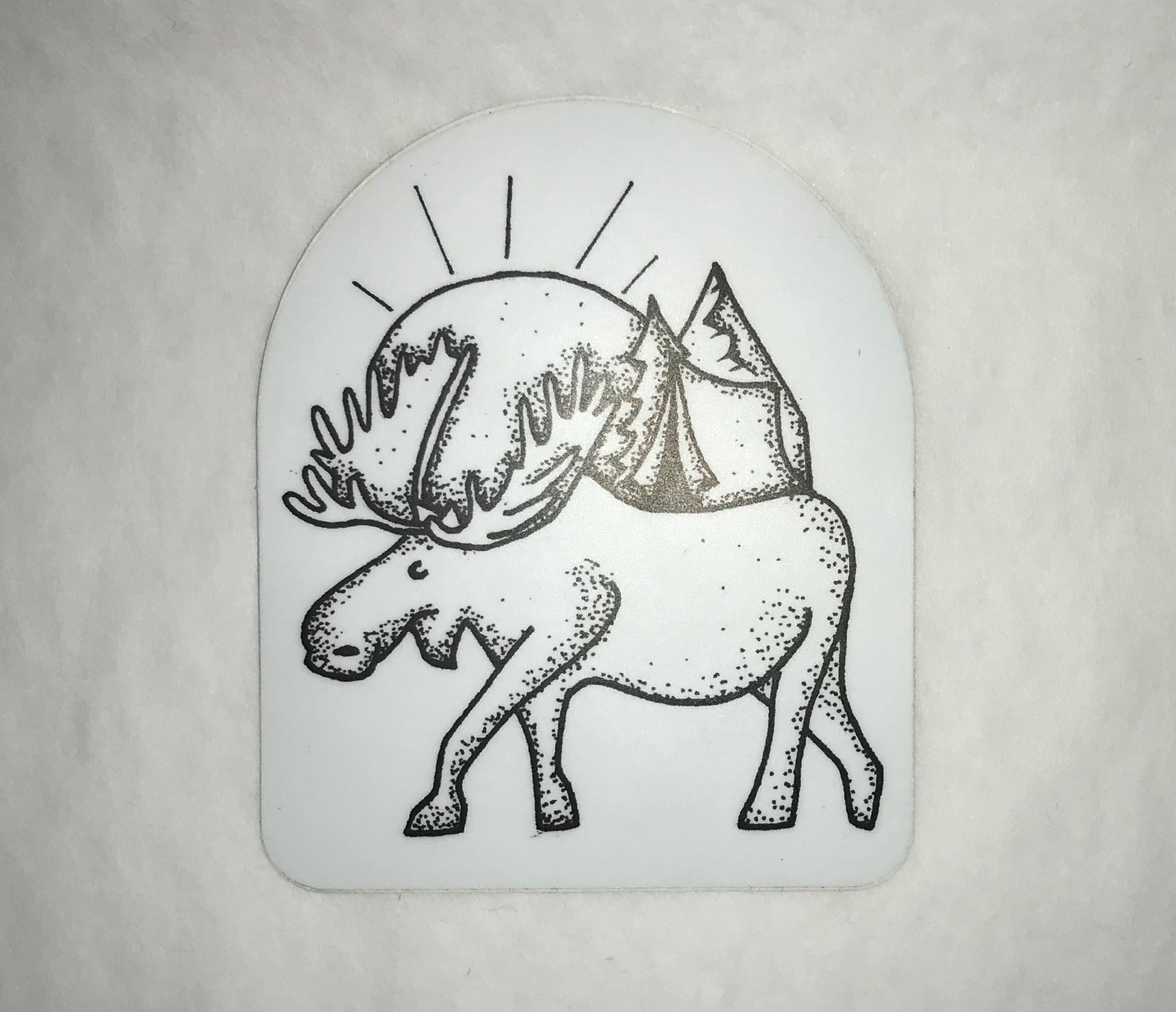 Moose Sunset Sticker