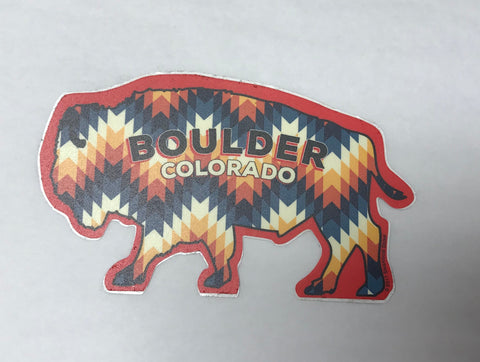 Native Bison Boulder Sticker