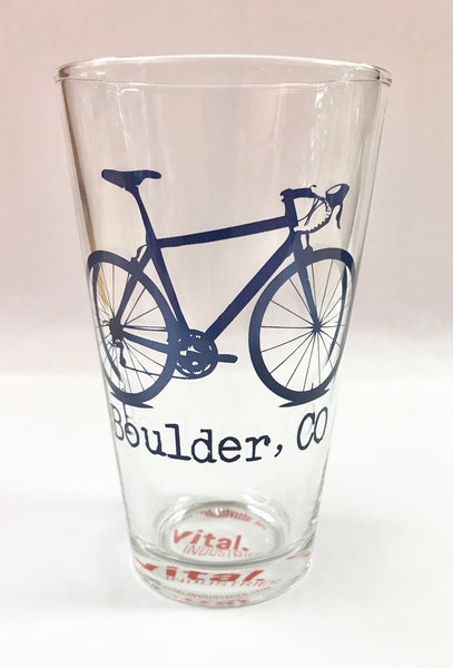 Assorted Colors Boulder Bike Pint Glass